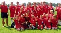 2005-06 Model Middle School Soccer brings home a trophy